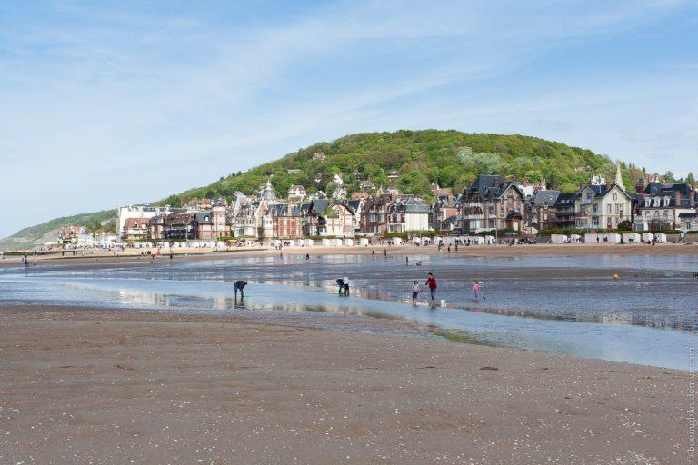 Week-end de camping en Normandie : plage de Cabourg