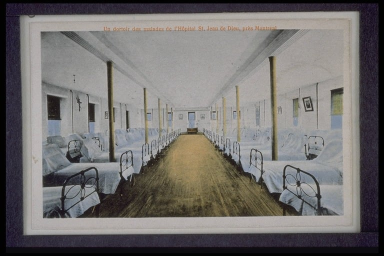 L'Hôpital Louis-H. Lafontaine: dortoir (archives)
