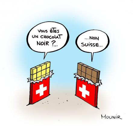 Caricature minarets en Suisse