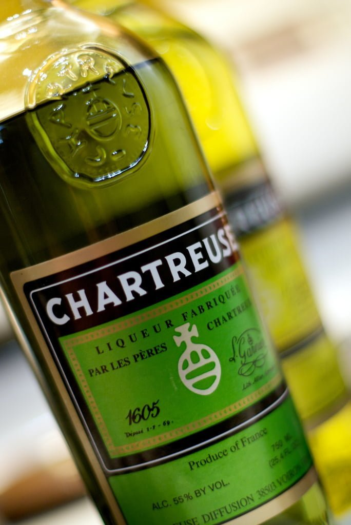 Bouteille de Charteuse verte