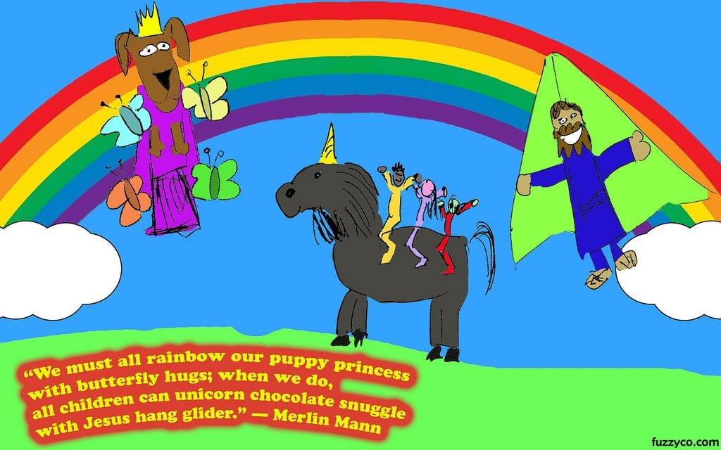 Puppy, rainbows and unicorns: tout est beau