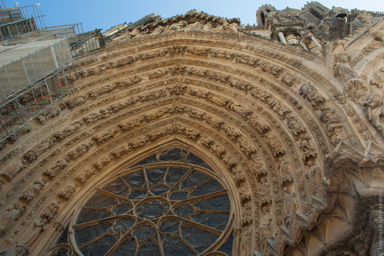 Tympan de la cathédrale de Reims