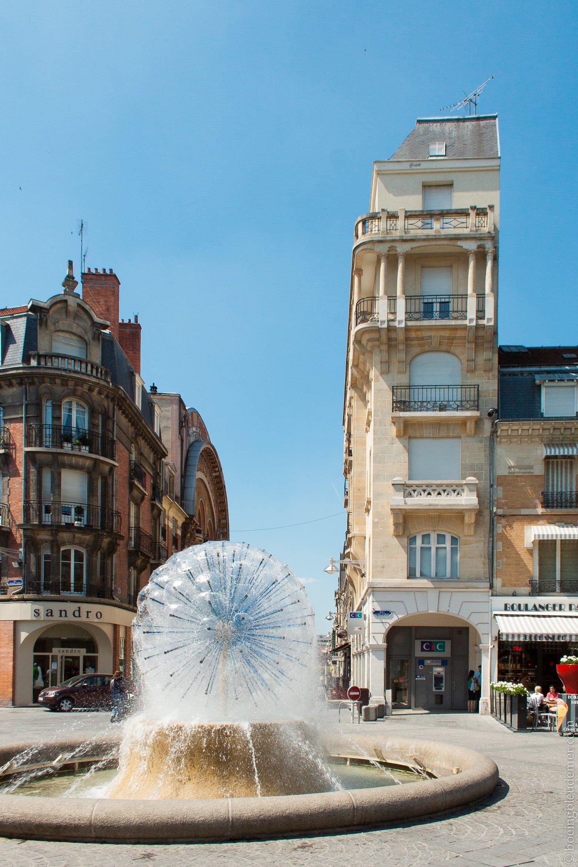 Visite de Reims, fontaine