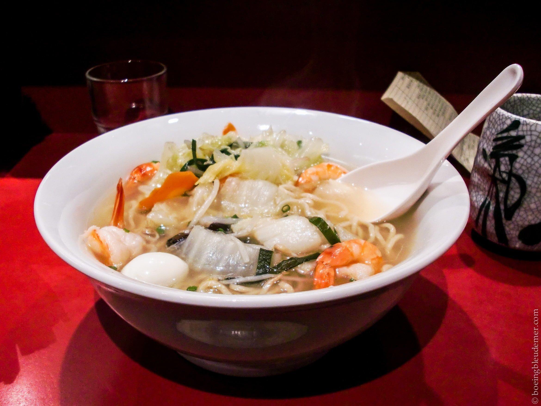 Soupe ramen aux crevettes, Sapporo