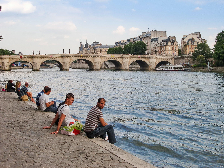Repos en bord de Seine, Paris