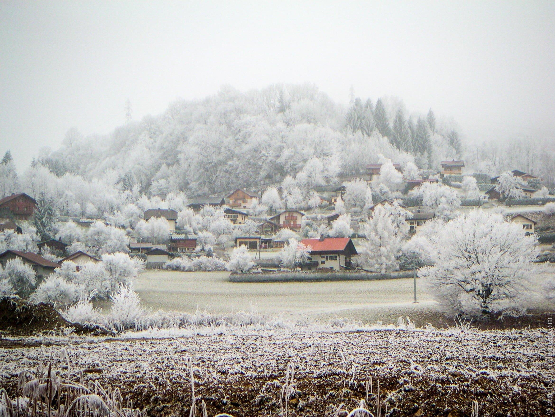Haute-Savoie sous le givre