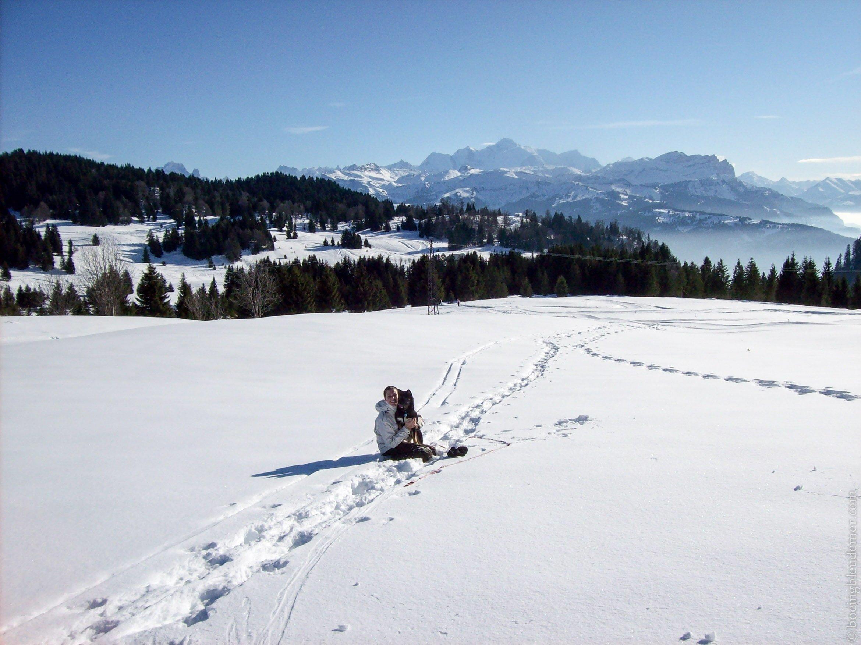 Akira et Cynthia dans les Alpes