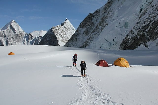 Leaving Camp 1, Mt Everest