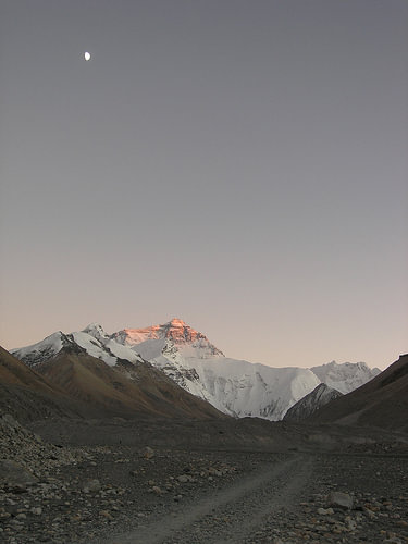 Moon At Everest