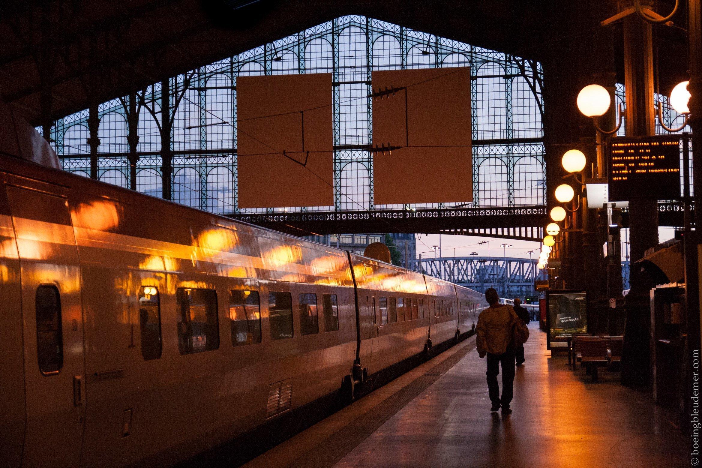 Thalys à la Gare du Nord au petit matin à Paris
