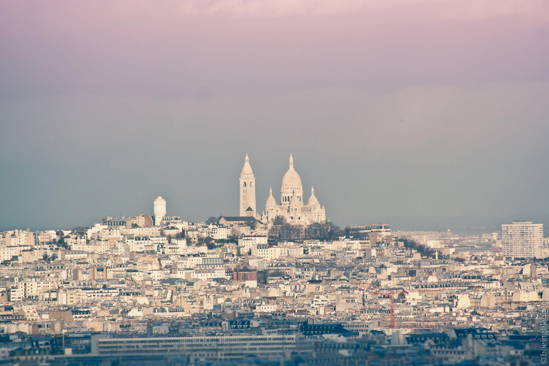 Sacré-coeur sur butte Montmartre, Paris