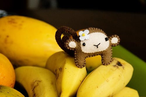 a banana tá com a macaca.