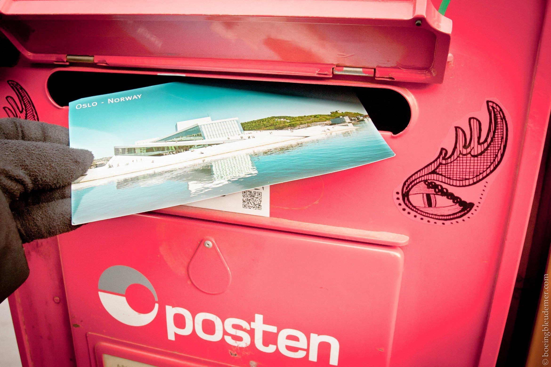 Posten: carte postale d'Oslo
