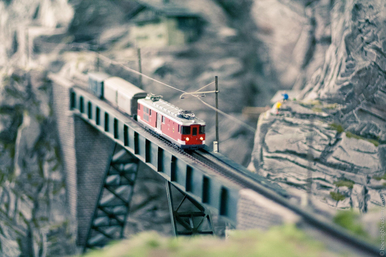 Train d'une maquette de Minaturwonderland