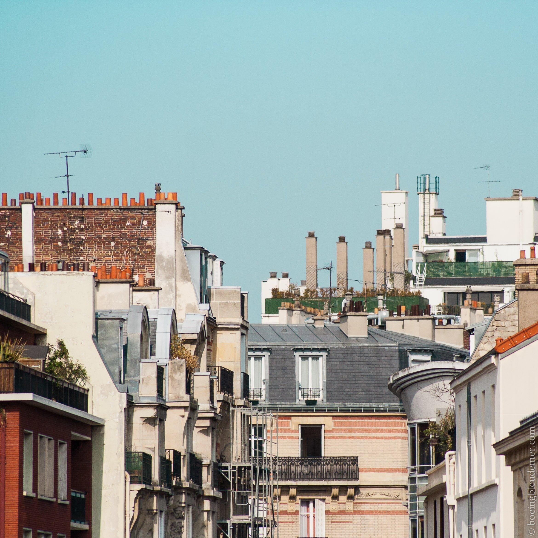 Pêle-mêle de bâtiments parisiens
