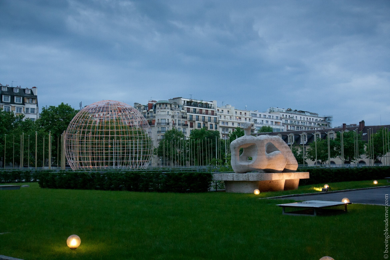 Silhouette au repos de Henry Moore - UNESCO