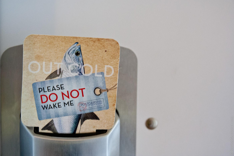 Do not disturb at the Postcard Inn