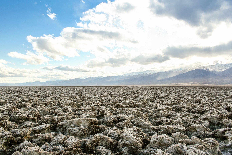 Devil's golf course, Death Valley National Park, CA désert de Mojave