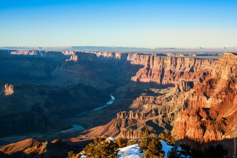 Le fleuve Colorado traverse le Grand Canyon