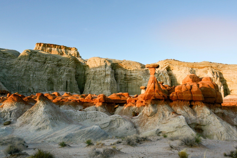 Grand Staircase-Escalante National Monument, UT dans le désert de Mojave