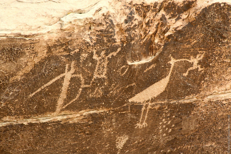 Pétroglyphes dans les déserts américains