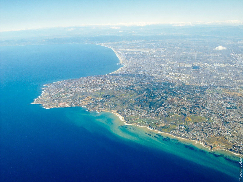 Vue aérienne de la Californie