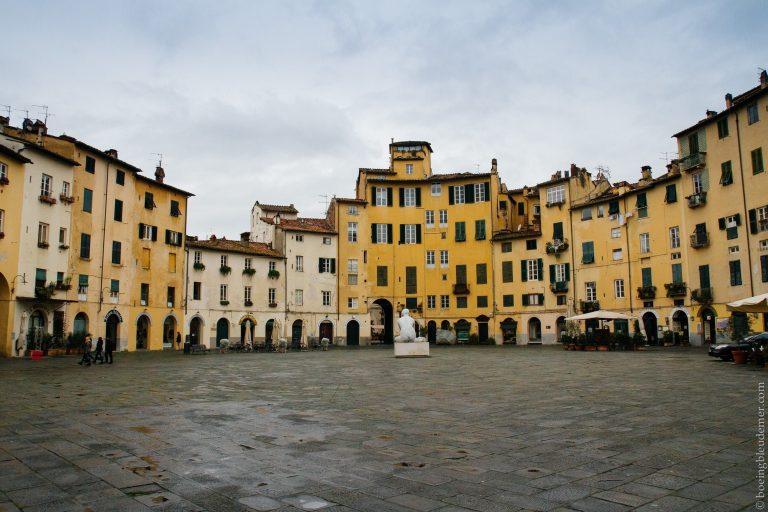 Un jour à Lucques en Italie: l'ancien forum