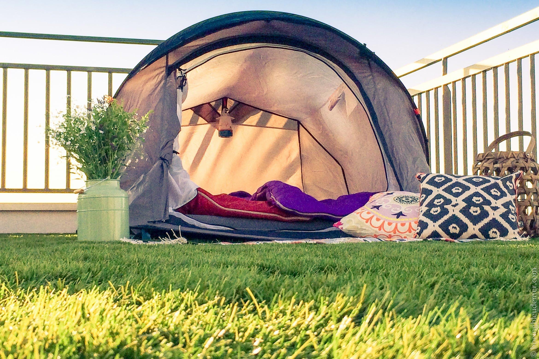 Camper sur le toit