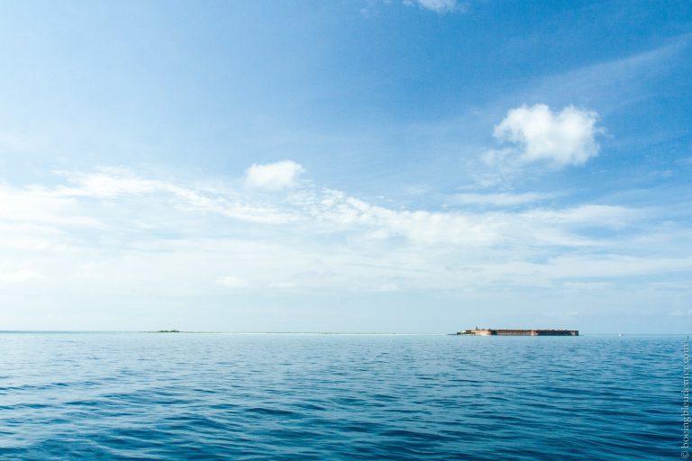 Dry Tortugas, à l'ouest de Key West: arrivée en traversier