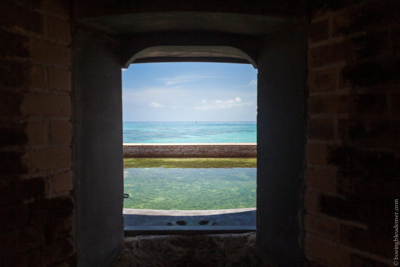Fenêtre du Fort Jefferson sur la Mer des Caraïbes