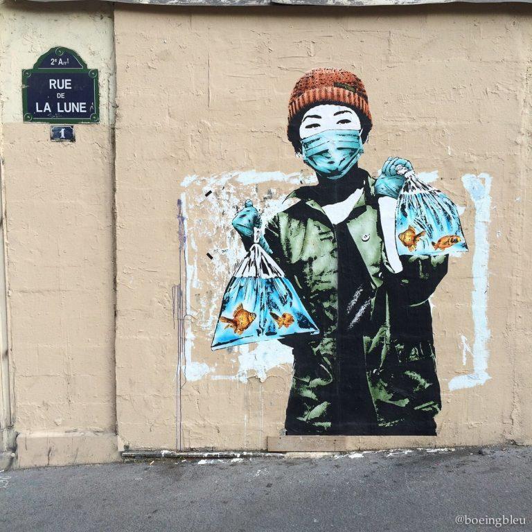 Street art rue de la Lune