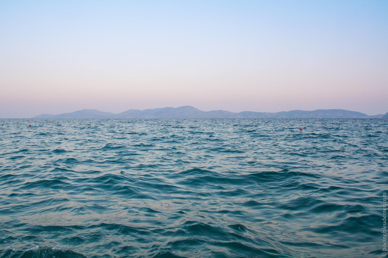 Coucher de soleil sur la Mer Égée