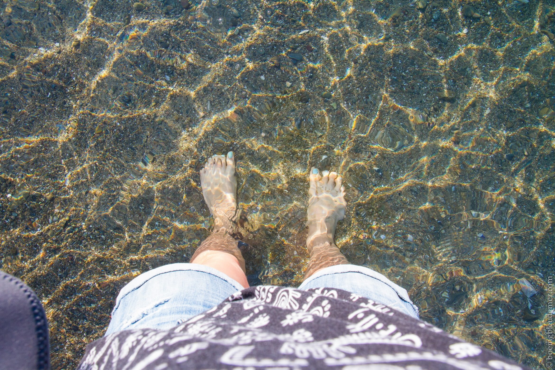 Eau cristalline d'Hydra Beach