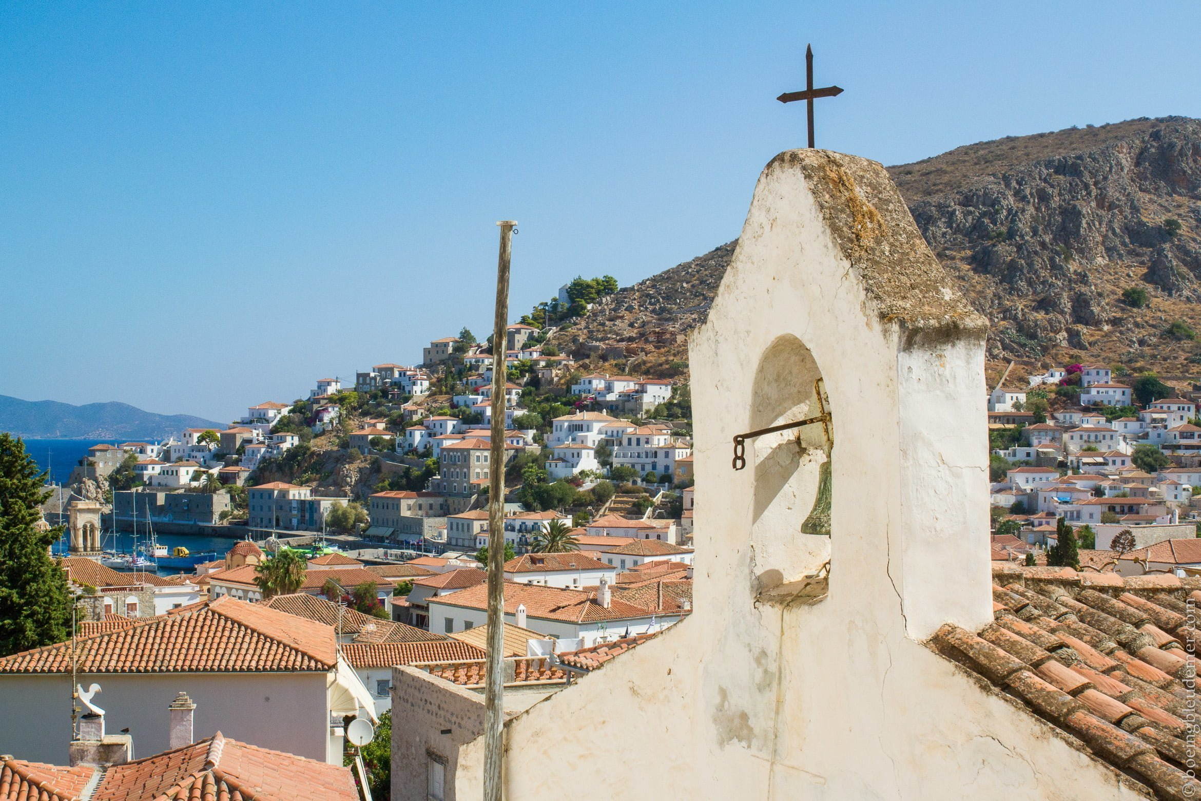 Pittoresque île d'Hydra: église orthodoxe