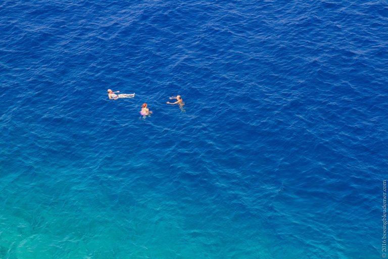 L'île d'Hydra en Grèce: baignade dans la mer