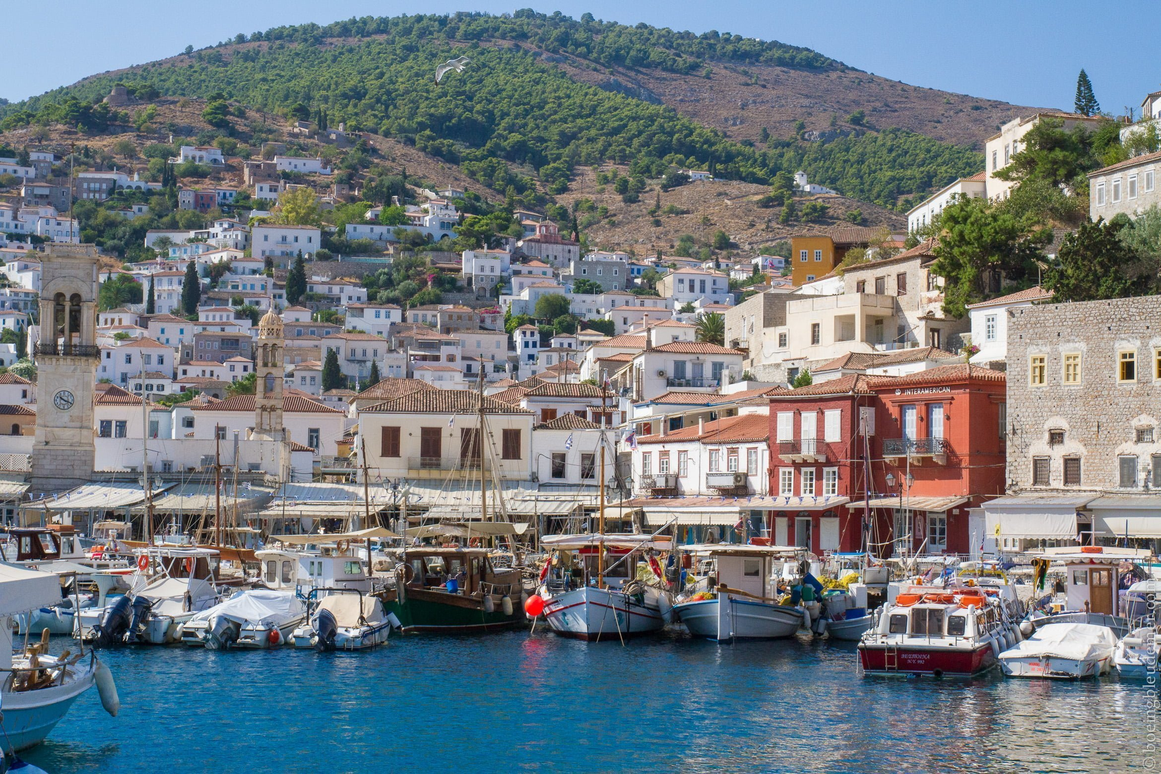 Pittoresque île d'Hydra: le port