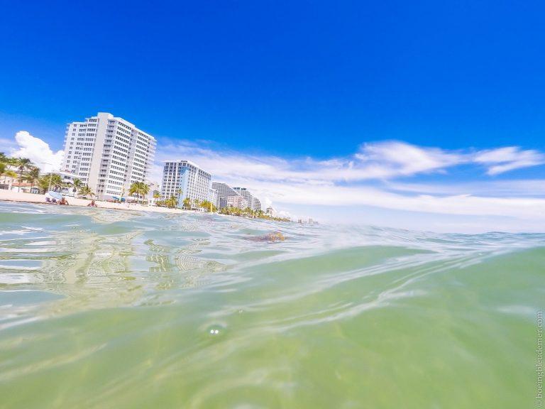 Plage de Floride vue de l'océan