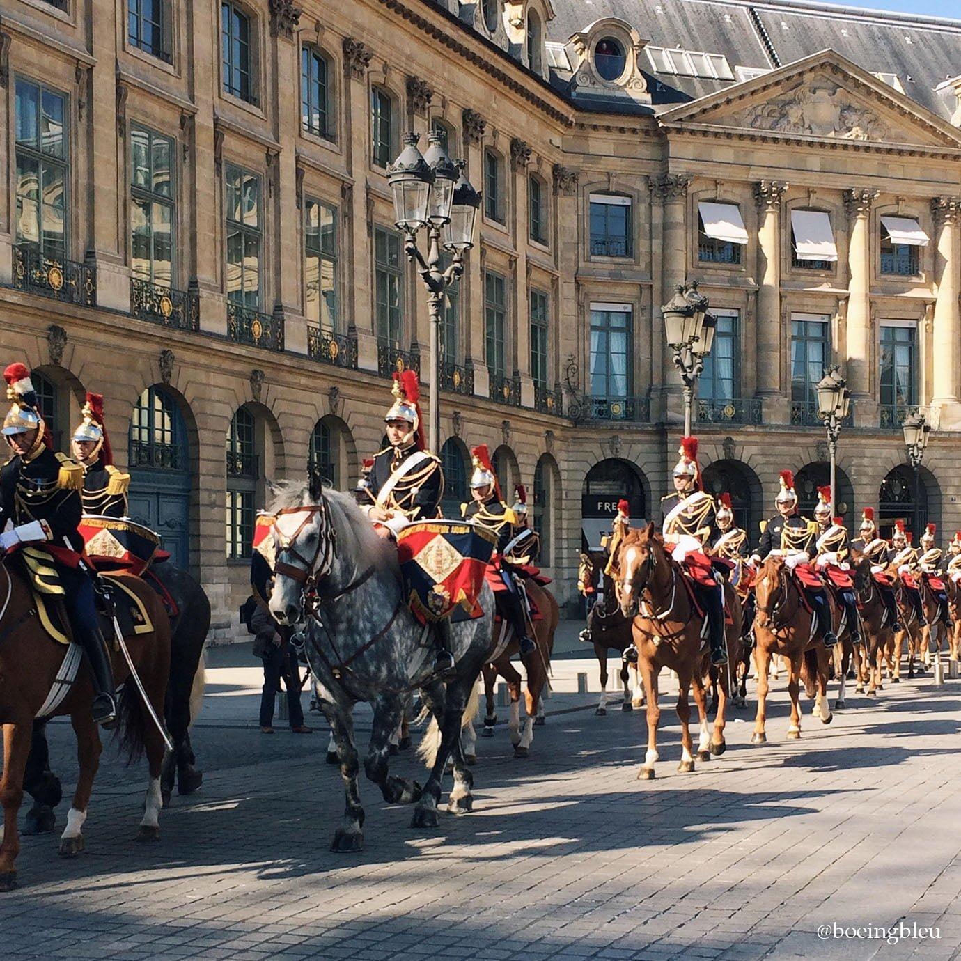 Garde Républicaine pour le Paris-Deauville