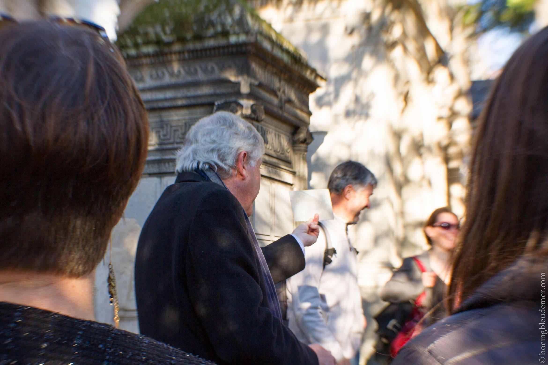Bertrand Beyern guide au Père Lachaise