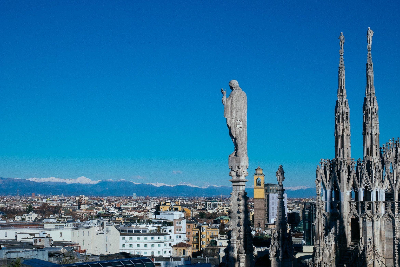 Un weekend en amoureux à Milan: vue sur les Alpes