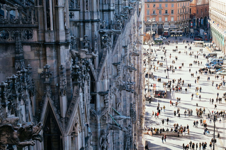Un weekend en amoureux à Milan: vue des terrasses du Duomo