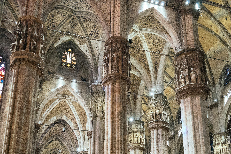 Un weekend en amoureux à Milan: intérieur du Duomo