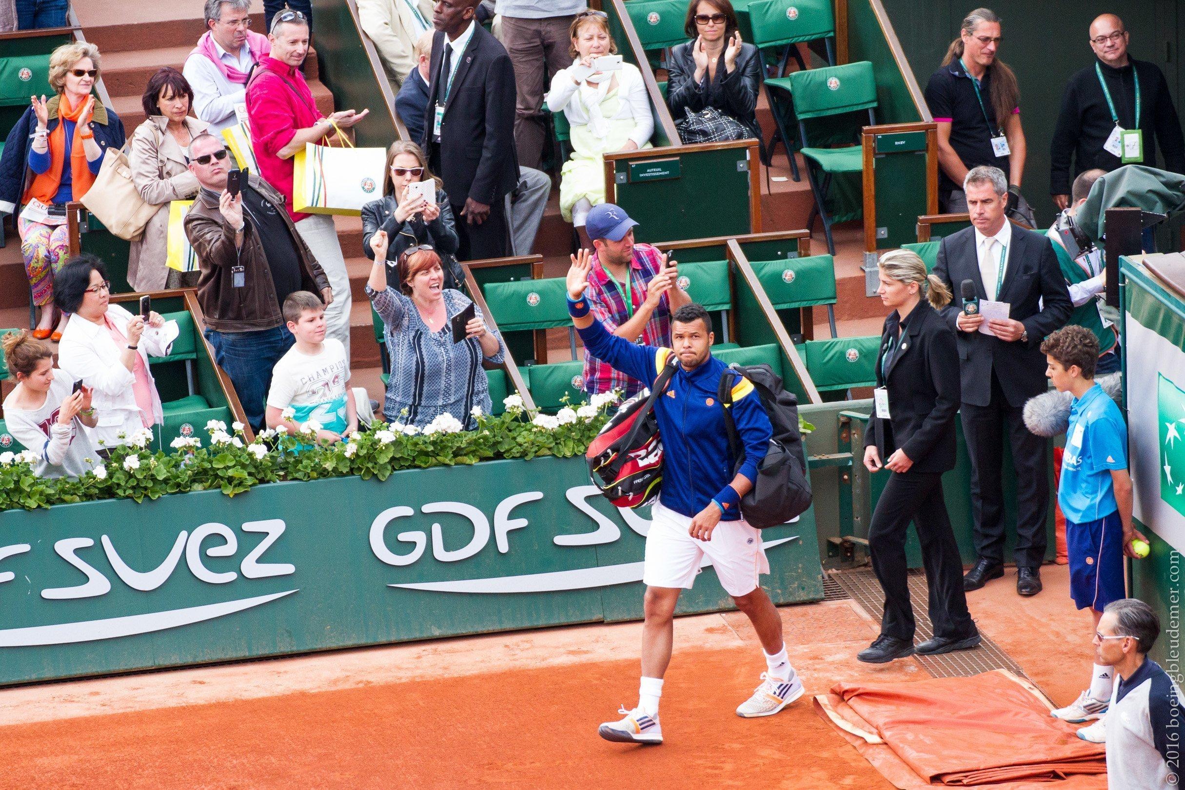 Roland Garros: Jo-Wilfried Tsonga
