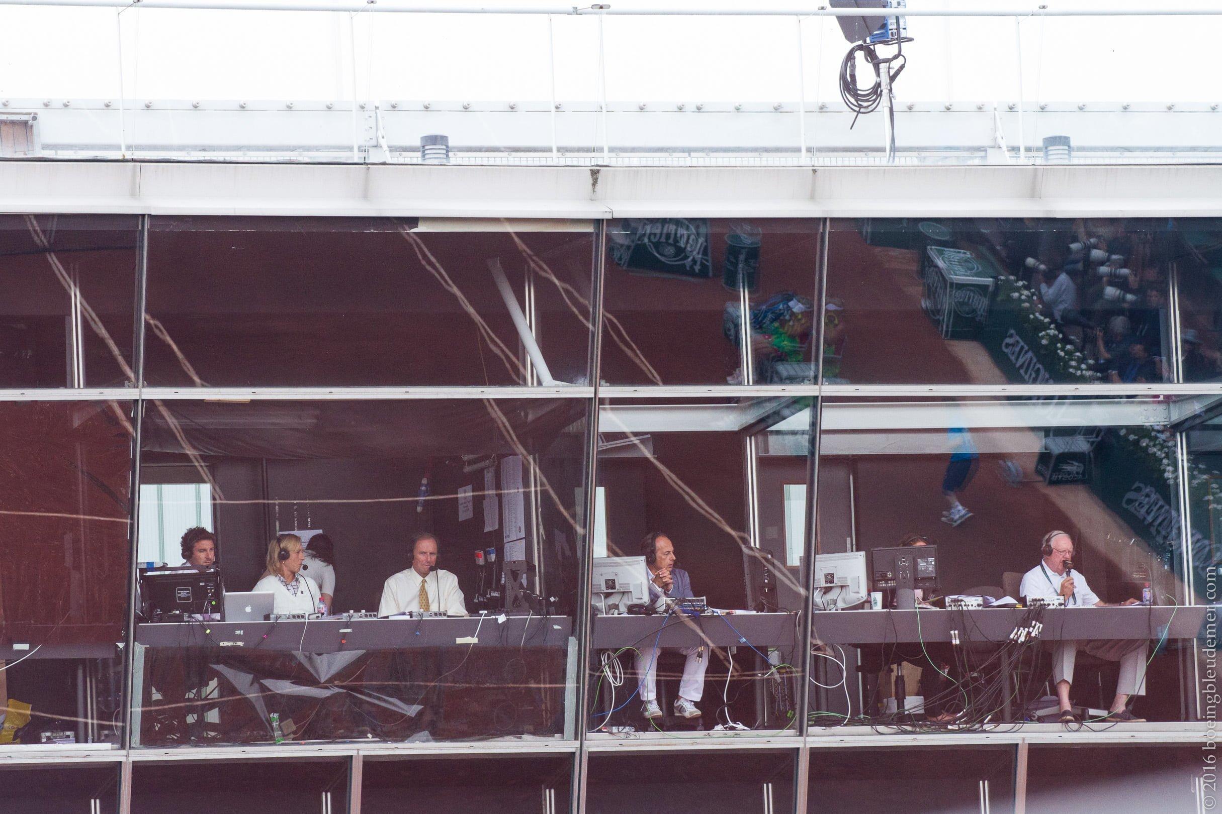 Roland Garros: journalistes sportifs