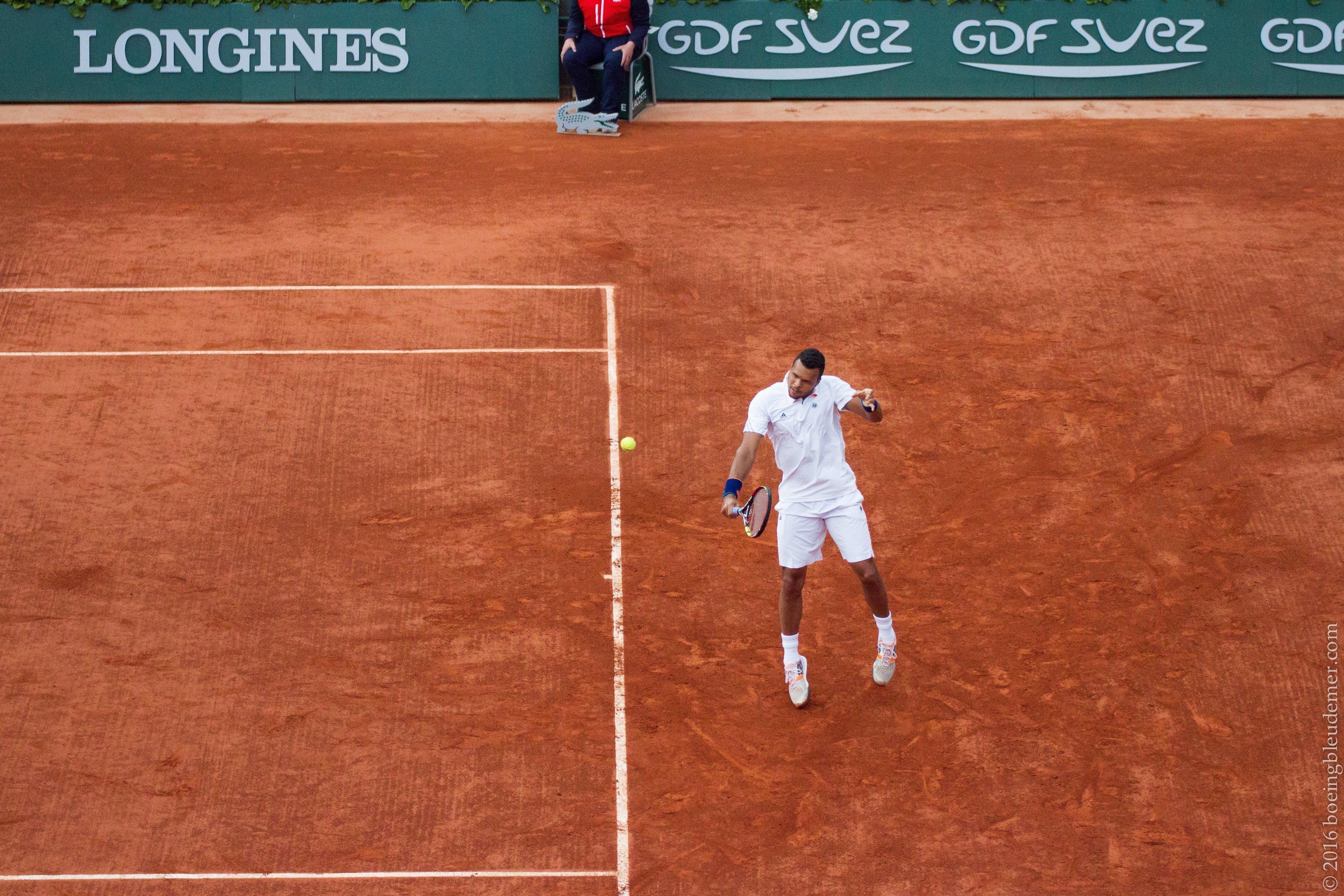 Roland Garros: le joueur de tennis Jo-Wilfried Tsonga
