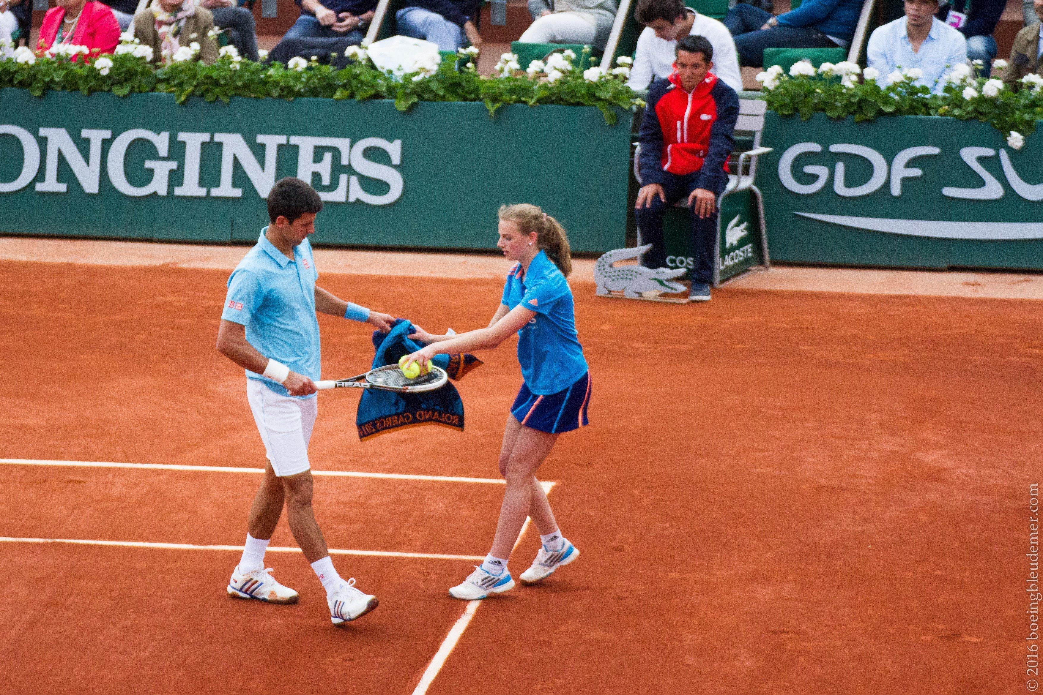 Roland Garros: le tennisman Novak Djokovic