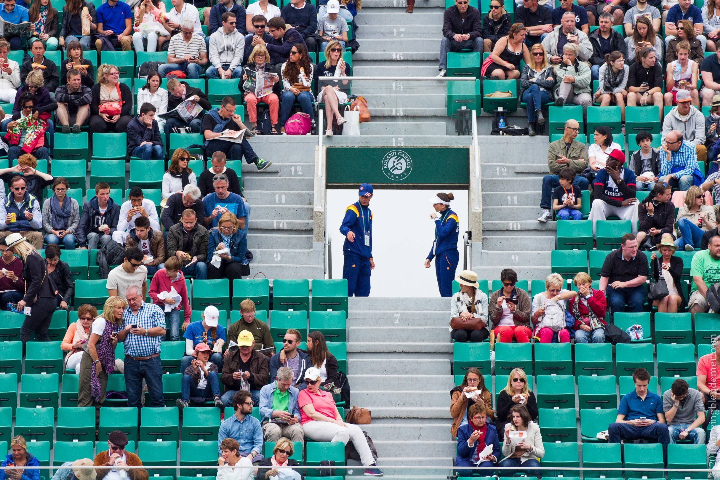 Roland Garros: placiers et gradins