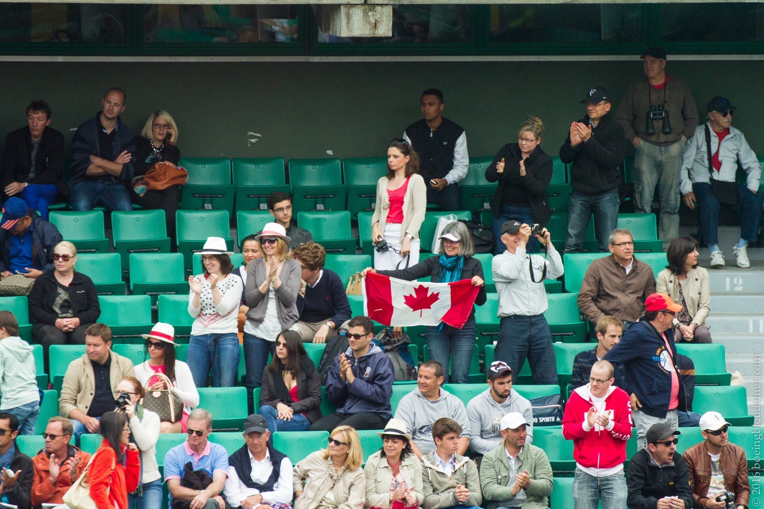 Roland Garros: supporters canadiens