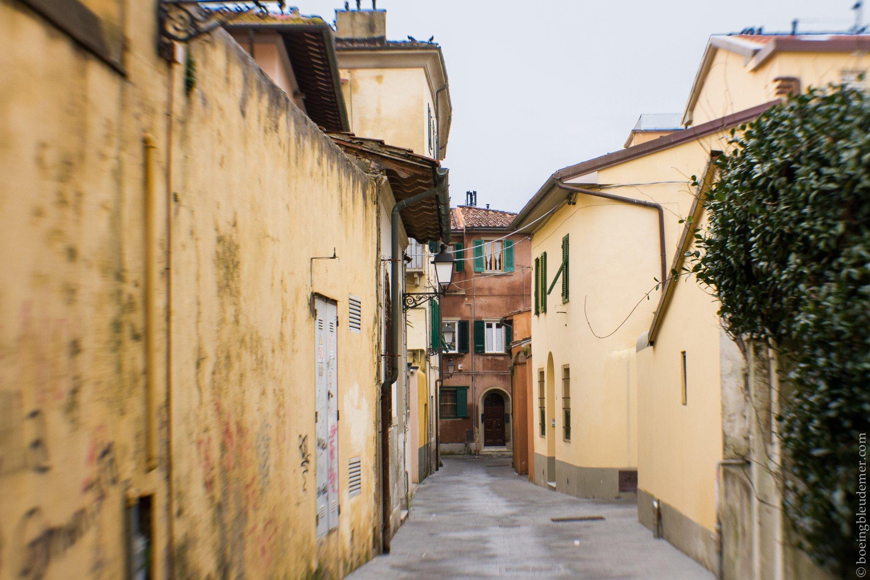 Un week-end à Pise: rues italiennes