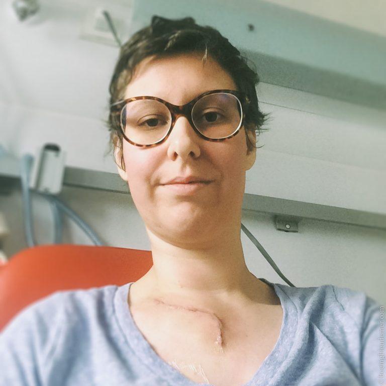 Cynthia à l'hôpital